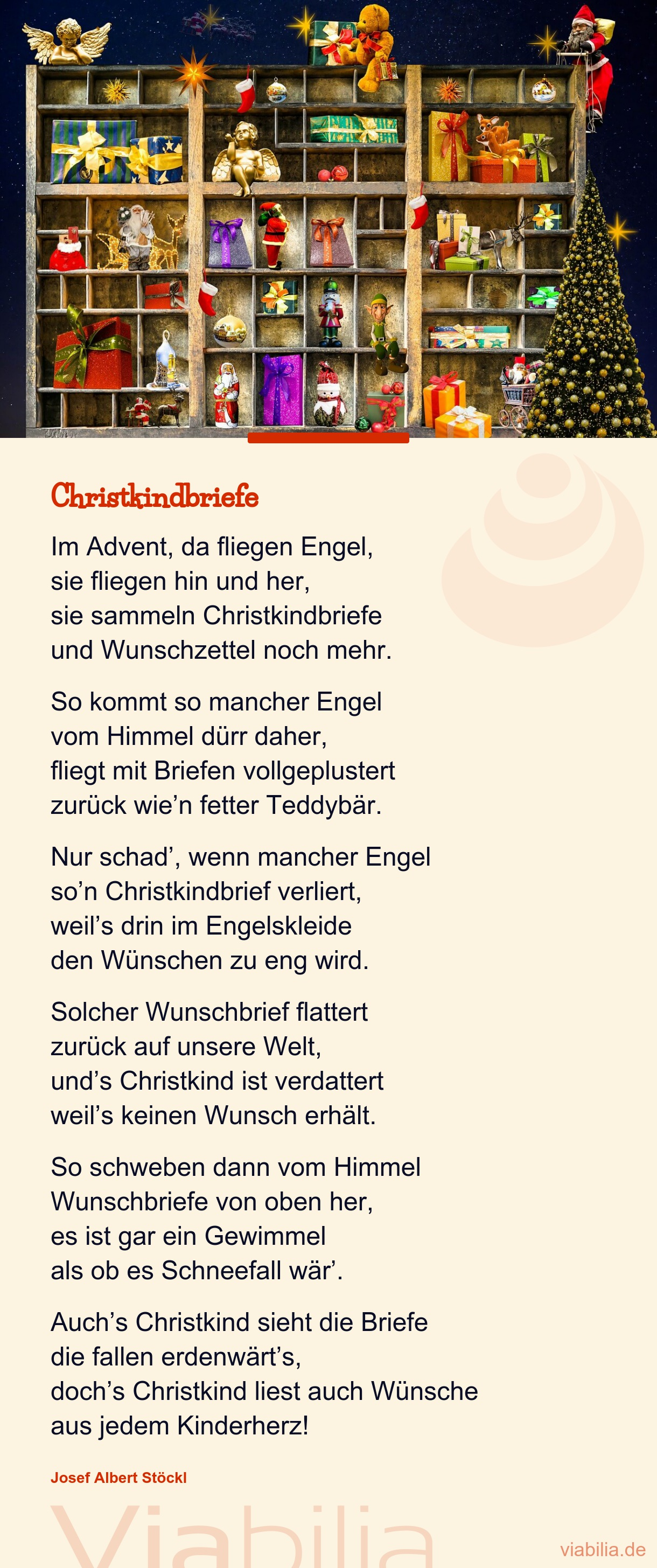 Brief an das Christkind: Im Advent, da fliegen Engel ...